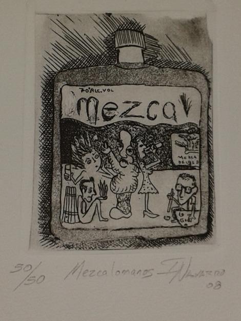 Grabado conmemorativo de la Logia de los Mezcólatras